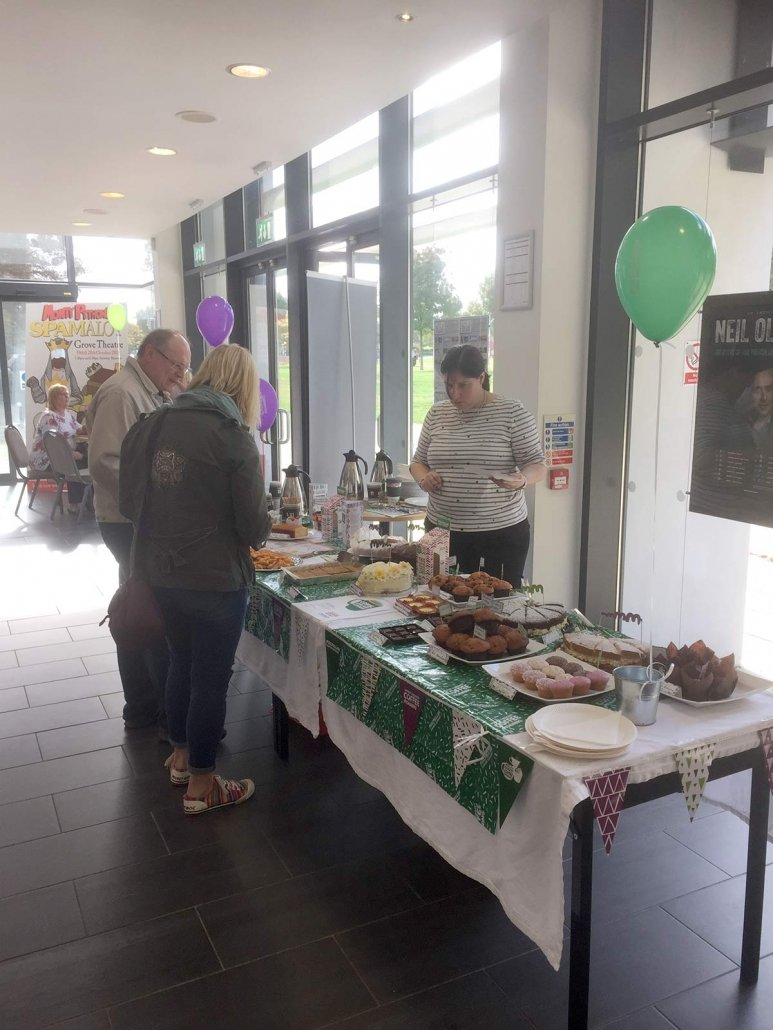 macmillian coffee morning at the grove theatre